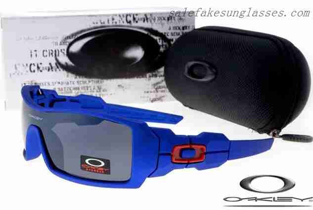 cd59cbf04fc Cheap Fake Oakley oil rig sunglasses spectrum blue   black China