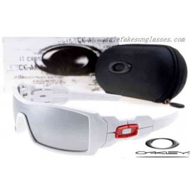 c7abc803c0 Cheap Imitation Oakley oil rig sunglasses polished white   silver  wholesale. Special Price  16.00